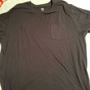 Plain black tee from old navy